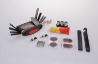 Fahrrad-Multitool-Werkzeug mit Reifenheber und Flickzeug 24tlg.