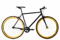 """Fixie Fitnessbike 28"""" Pegado schwarz-gold RH 56 cm KS Cycling"""