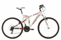 "MOUNTAINBIKE MTB FULLY 26"" ZODIAC WEISS RH 48 CM KS CYCLING"