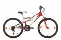 "Kinderfahrrad Mountainbike Fully 24"" Zodiac rotweiß RH 38 cm KS Cycling"