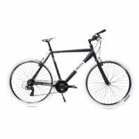 28 Zoll Alu MIFA Crosser Bike Shimano 21 Gang Herren Cross Fahrrad schwarz matt