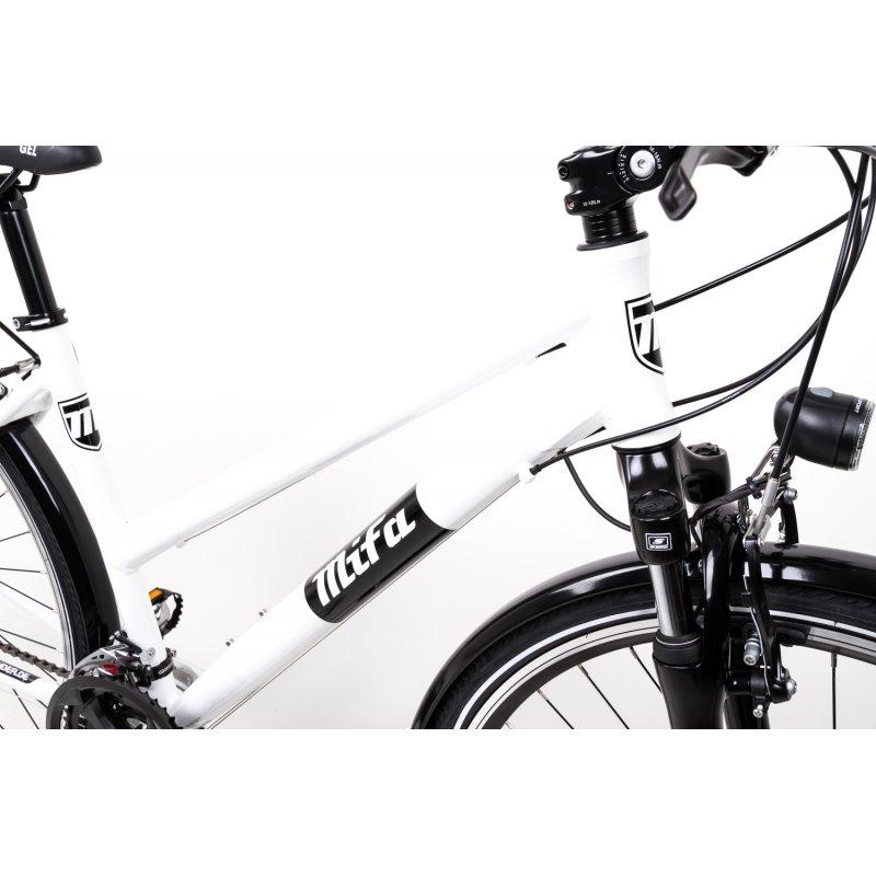 28 Zoll Alu Fahrrad Trekking Damen Rad Shimano Deore 24 Gang Nabendynamo weiss