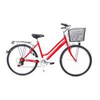 26 Zoll Damen Sport Fahrrad Bike Shimano 6 Gang V-Brake rot