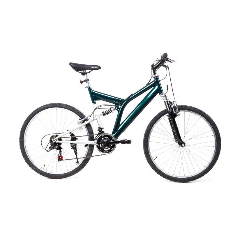 26 zoll mtb cross fully mountain bike fahrrad 18 gang shimano gr n der. Black Bedroom Furniture Sets. Home Design Ideas