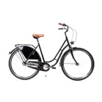 28 Zoll Damen Fahrrad 3 Gang Shimano Nexus Nabendynamo Retro Classic schwarz