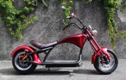 Elektroroller E-Scooter Harley Chopper 45km/h mit Strassenzulassung