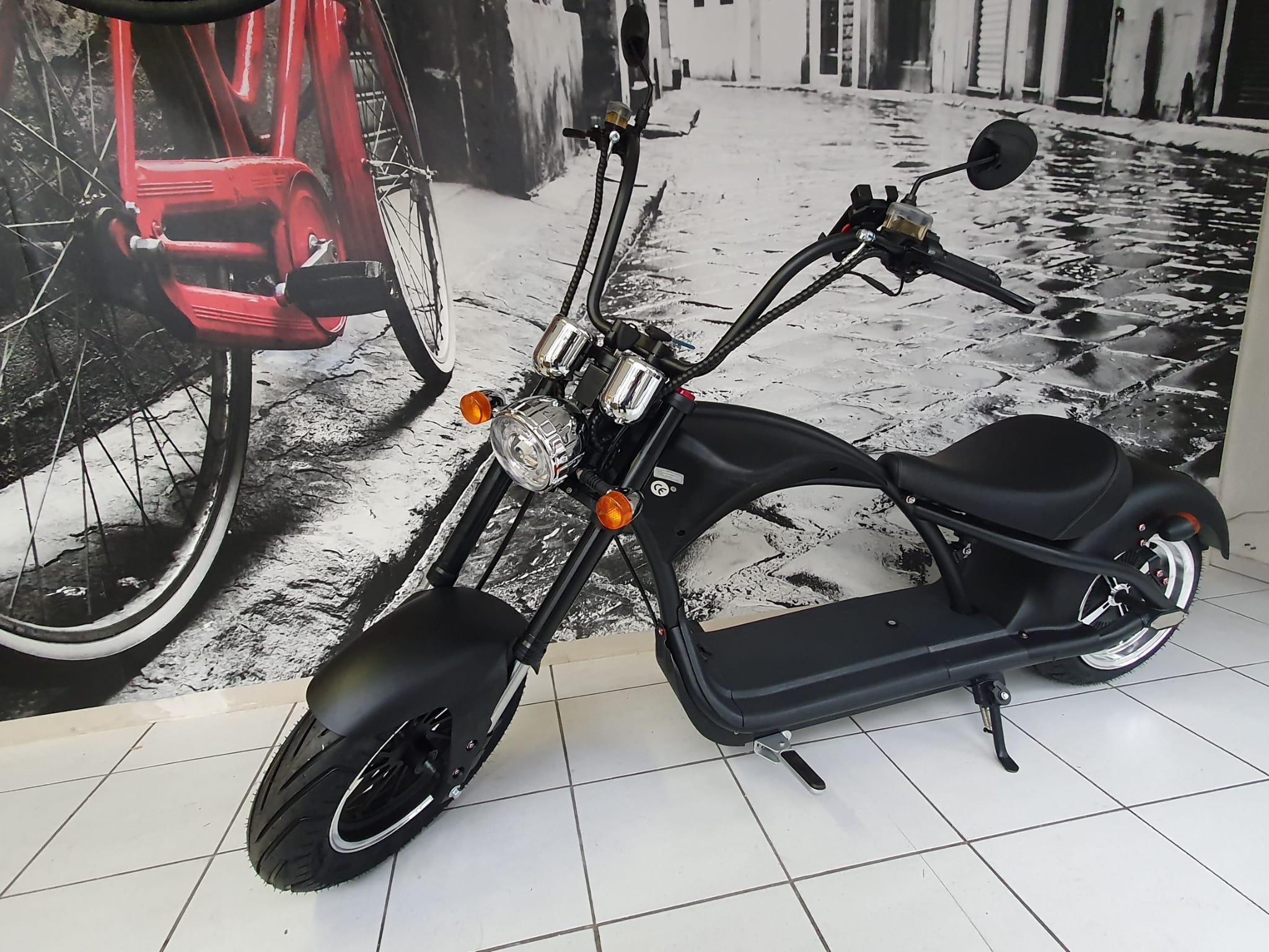 Elektroroller E-Scooter Harley Chopper 45km/h mit Fahrzeugausweis