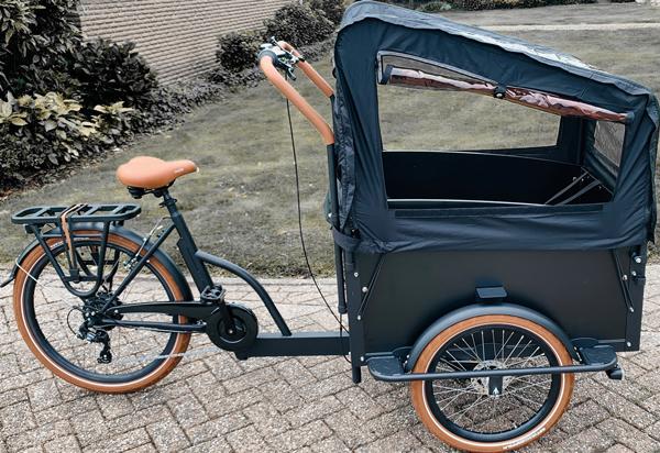 E-Cargo, Lastenrad mit Transportbox, 468Wh Akku, Rollenbremsen